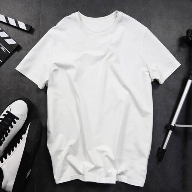 Áo thun trơn màu trắng-đen cao cấp