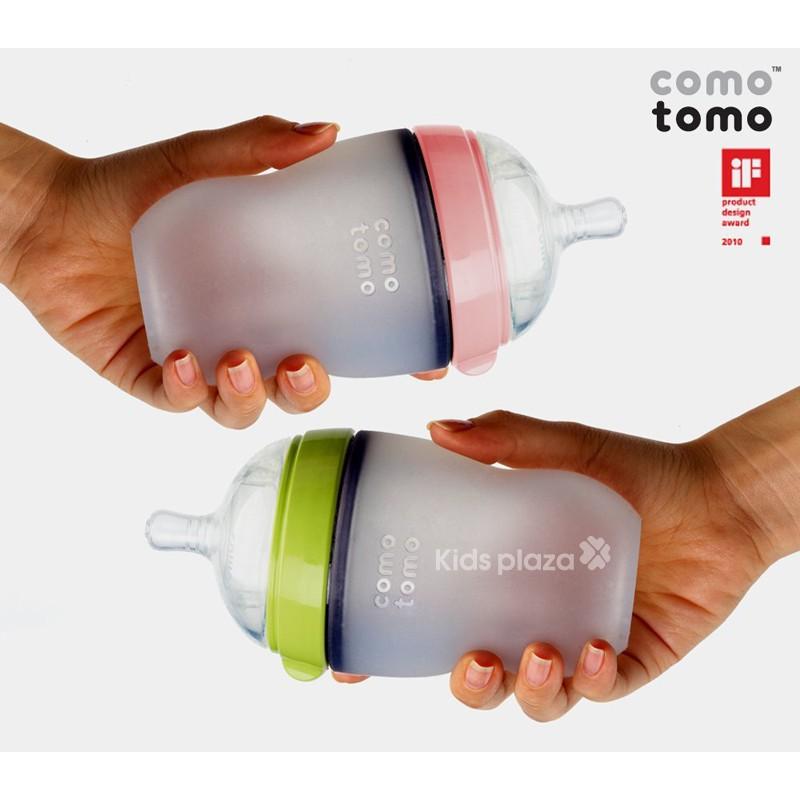 Bình sữa comotomo 250ml Xanh/Hồng