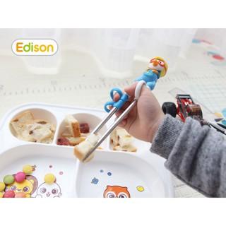 Đũa tập ăn xỏ ngón bằng nhựa và INOX Edison (tay phải)