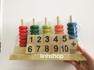 Đồ chơi thông minh – Bàn tính học đếm (hình ảnh thật shop tự chụp)