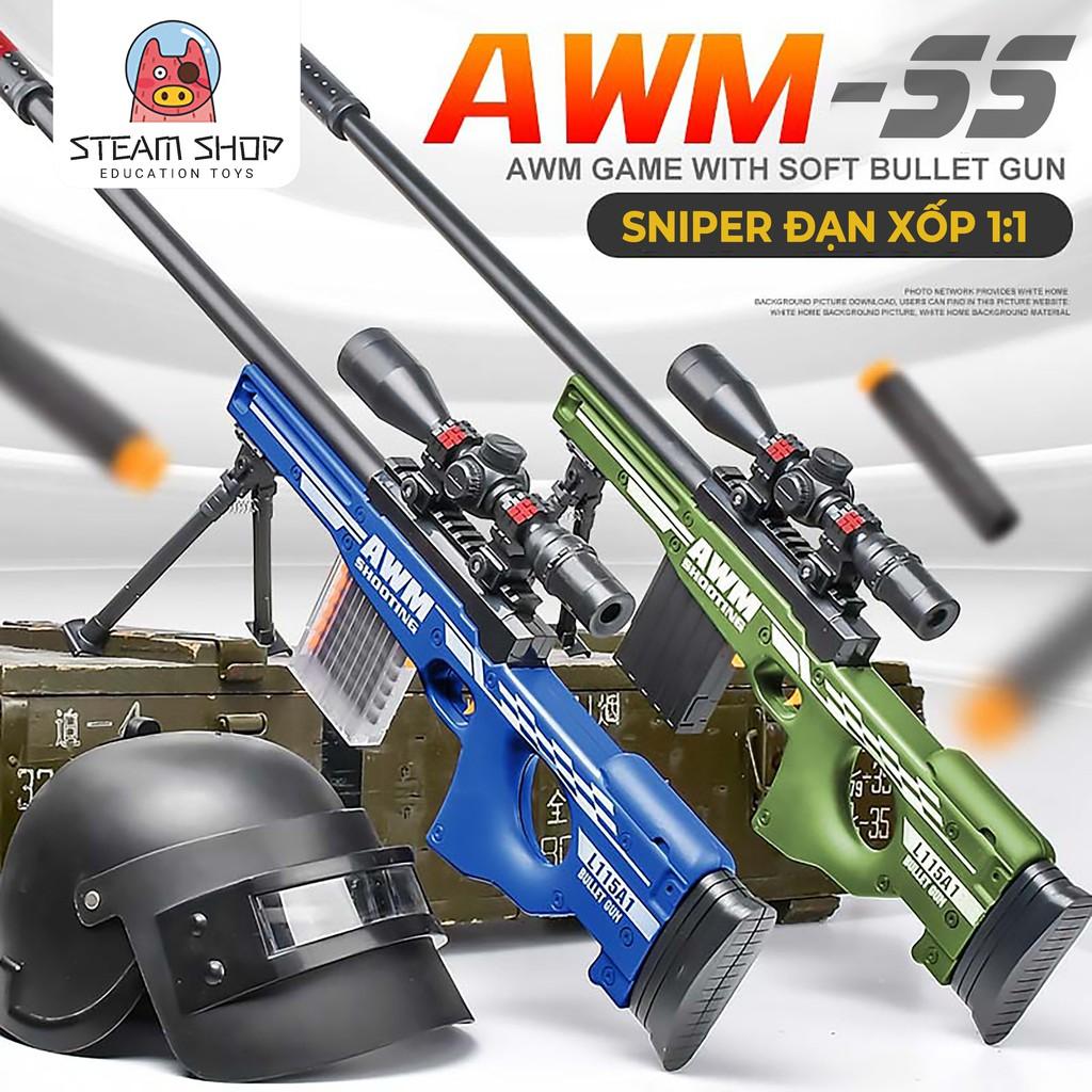 Đồ Chơi Đạn Xốp Sniper-AWM Tỷ Lệ 1:1 Full Set