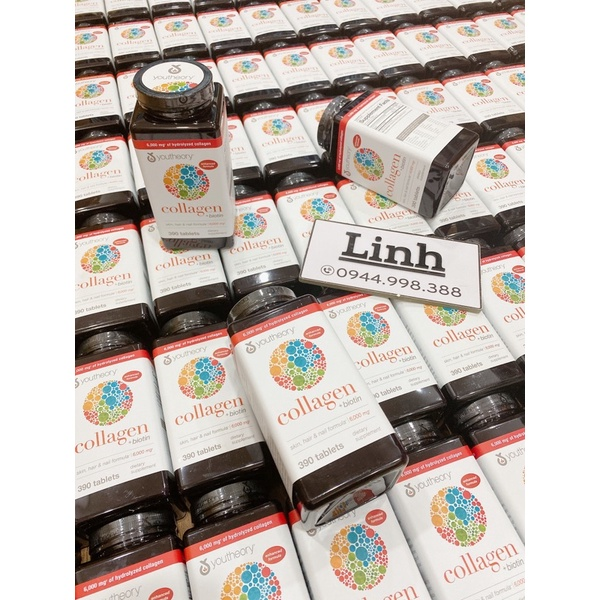 Viên Uống Youtheory Collagen Advanced 390 Viên collagen Type 1,2&3 - Mẫu mới thumbnail