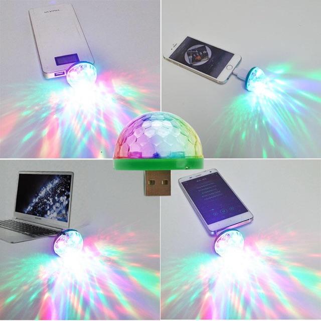 BÓNG ĐÈN LED ĐA SẮC MINI USB NHẤP NHÁY THEO NHẠC KÈM ĐẦU OTG MICRO USB