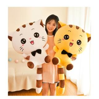 [HÀNG LOẠI 1] Gấu Bông Mèo Mặt Bự Siêu Kute Chất Cotton Nhồi Bông Cao Cấp Siêu Êm Siêu Mềm- Hàng Có Sẵn size 25-35-50 cm