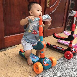 Xe trượt scooter chòi chân 2in1