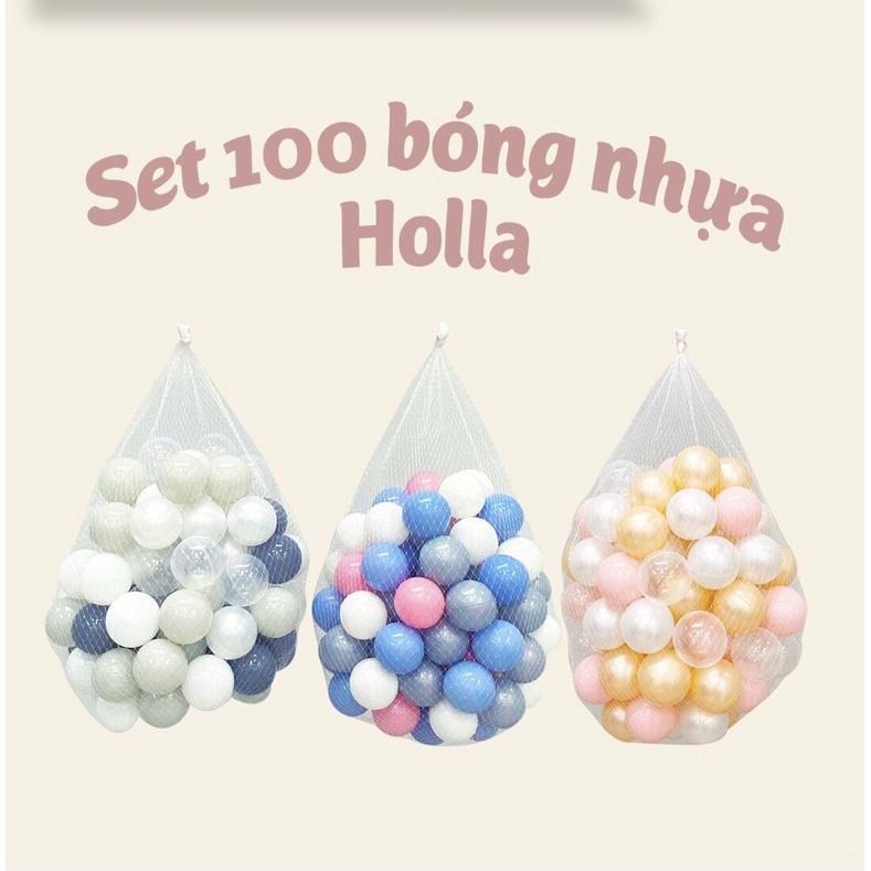 Set 100 bóng nhựa Holla cao cấp an toàn cho bé