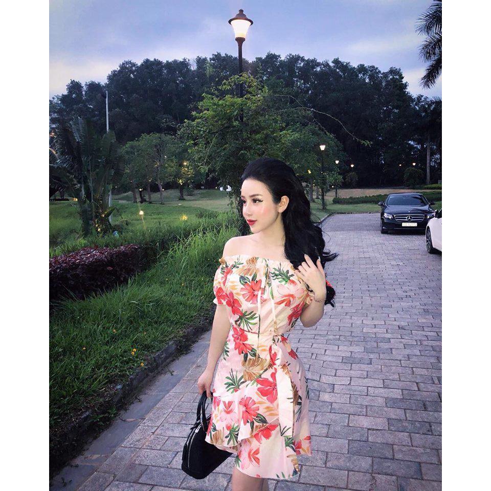 1229583799 - Sét váy đầm hoa trễ vai