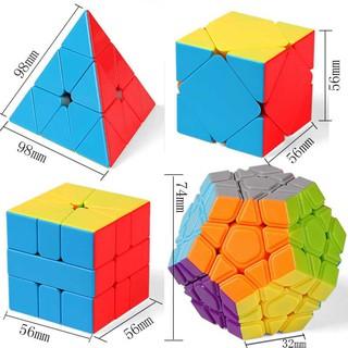 Hộp 4 Khối Rubik Biến Thể MoYu Tam giác, Skewb, 12 mặt, Square-1. Rubic Stickerless thumbnail
