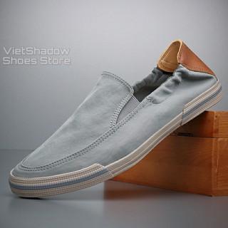 Slip on nam - Giày lười vải nam cao cấp - Mũ giày bằng polyester (gió) chống thấm 4 màu tuyệt đẹp - Mã 20610 thumbnail