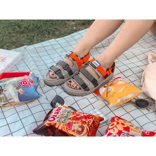 [HÀNG MÓI VỀ] Có sẵn- Hàng Full Box- sandal 3 quai HOT TREND D1001 Cam Tro có kèm ảnh gốc ở cuối thumbnail