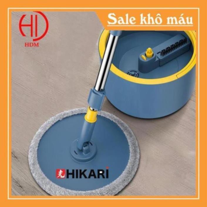 Chổi lau nhà thông minh HIKARI HR-365F công nghệ Nhật lau sạch gấp 3 lần chổi thường