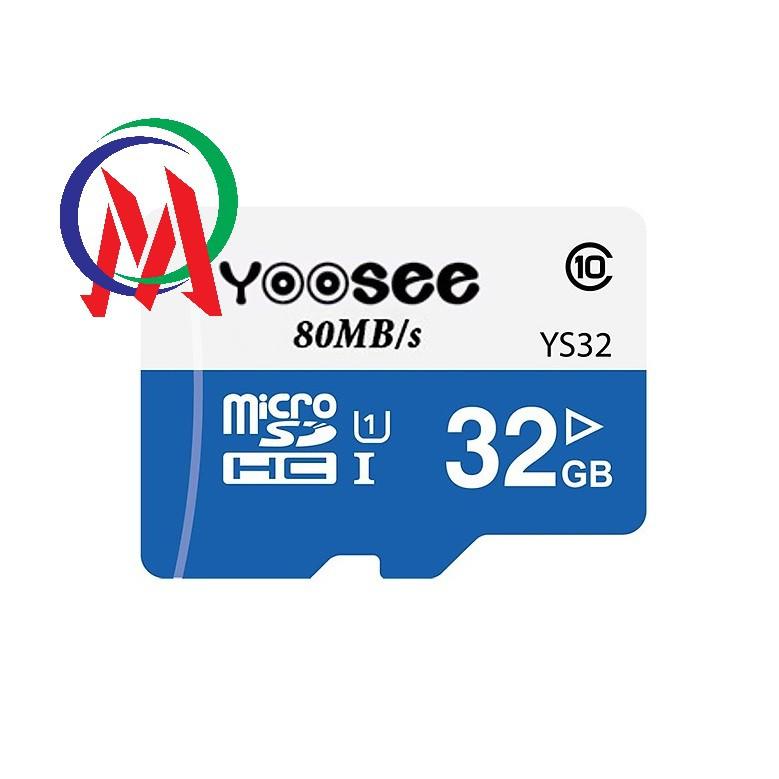 [Bảo hành 2 năm] Thẻ Nhớ Camera Yoosee 32GB, Tốc Độ Đọc Class 10