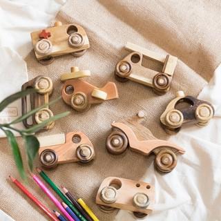 Bộ Xe Mô Hình Mini Siêu Bền Đẹp Cho Bé – Hoàn toàn bằng gỗ tự nhiên, an toàn cho bé.
