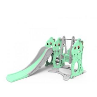Cầu trượt kèm xích đu hình khủng long Toys house