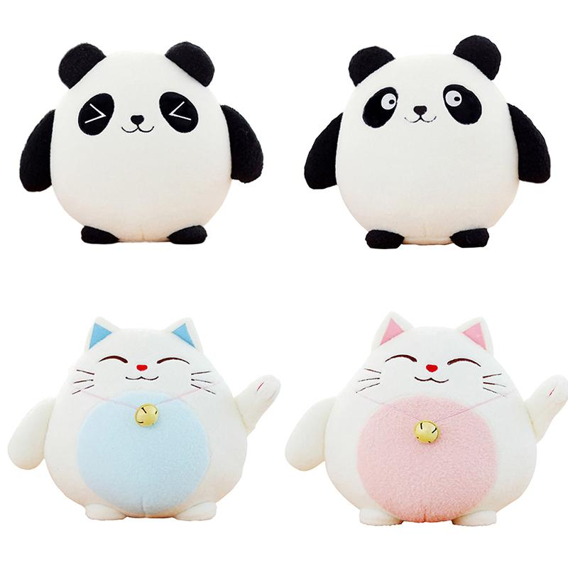 Panda Plush Animals Doll Toys Fortune Cat Stuffed Lucky Cat Car Decoration Gifts
