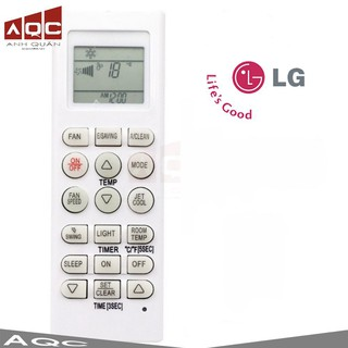 Khiển điều hoà, máy lạnh LG dài – 18 nút