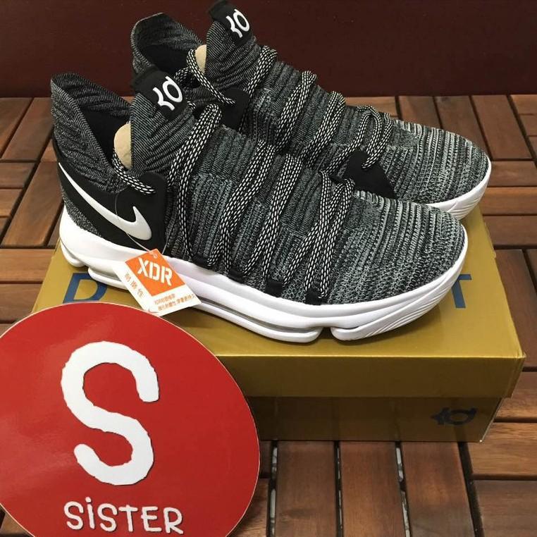 Nike Zoom KD 10 เกล็ดหิมะ OREO เถ้าดำเควินดูแรนต์ 897816-001