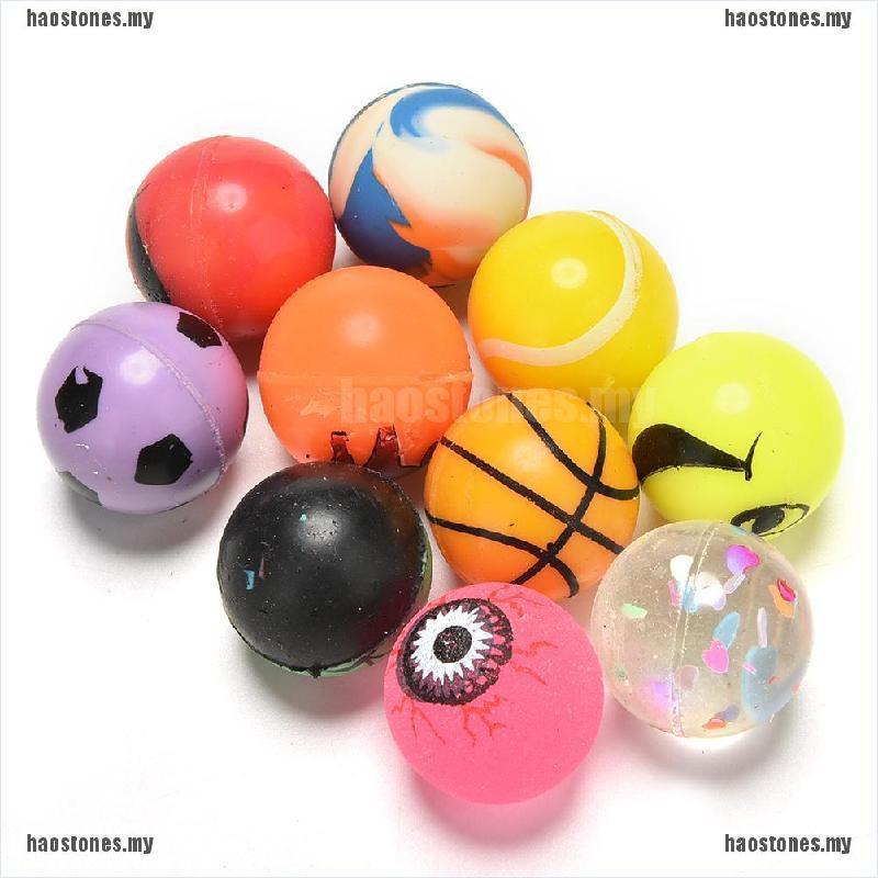 Set 10 quả bóng nảy 27mm đồ chơi màu sắc cho các buổi tiệc