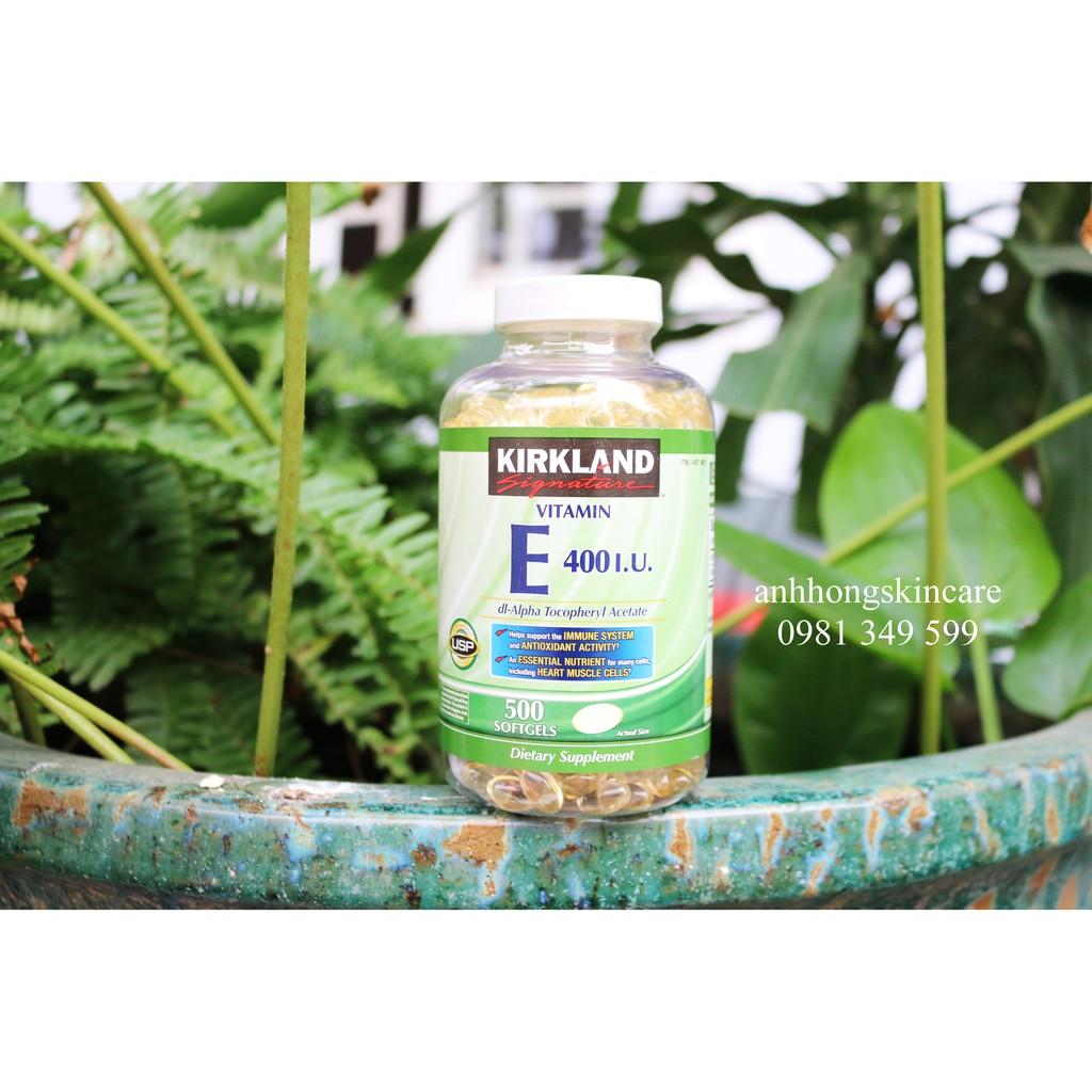 Viên Uống Vitamin E 400 I.U Kirkland - 500 viên - 3246462 , 812120396 , 322_812120396 , 430000 , Vien-Uong-Vitamin-E-400-I.U-Kirkland-500-vien-322_812120396 , shopee.vn , Viên Uống Vitamin E 400 I.U Kirkland - 500 viên