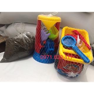 [Nhập mã TOYMAY15 giảm 15K] Mã A2- Combo đồ chơi xúc cát hạt muồng giá rẻ cho bé