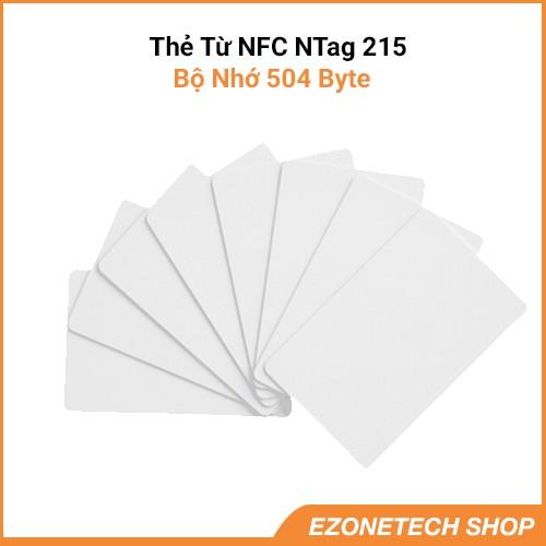 Thẻ Từ NFC NTag215 Tần Số 13,56Mhz Dùng Ghi Dữ Liệu Bằng Điện Thoại