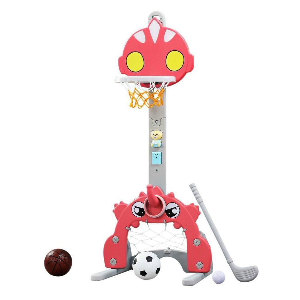 Bộ đồ chơi bóng rổ đa năng 4in1 kết hợp với bóng đá, ném vòng và chơi golf cho bé