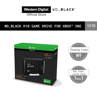 """Ổ cứng HDD WD BLACK D10 Game Drive For Xbox 12TB 2.5"""", 3.2(WDBA5E0120HBK-SESN)"""