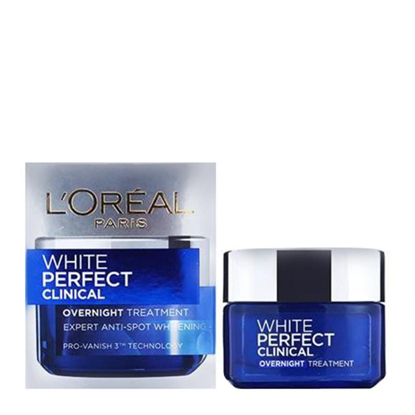 Kem dưỡng trắng mịn và giảm thâm nám ( đêm) Loreal White Perfect Clinical OverNight Treatment 50ml - 3482790 , 1167916605 , 322_1167916605 , 248000 , Kem-duong-trang-min-va-giam-tham-nam-dem-Loreal-White-Perfect-Clinical-OverNight-Treatment-50ml-322_1167916605 , shopee.vn , Kem dưỡng trắng mịn và giảm thâm nám ( đêm) Loreal White Perfect Clinical Ov