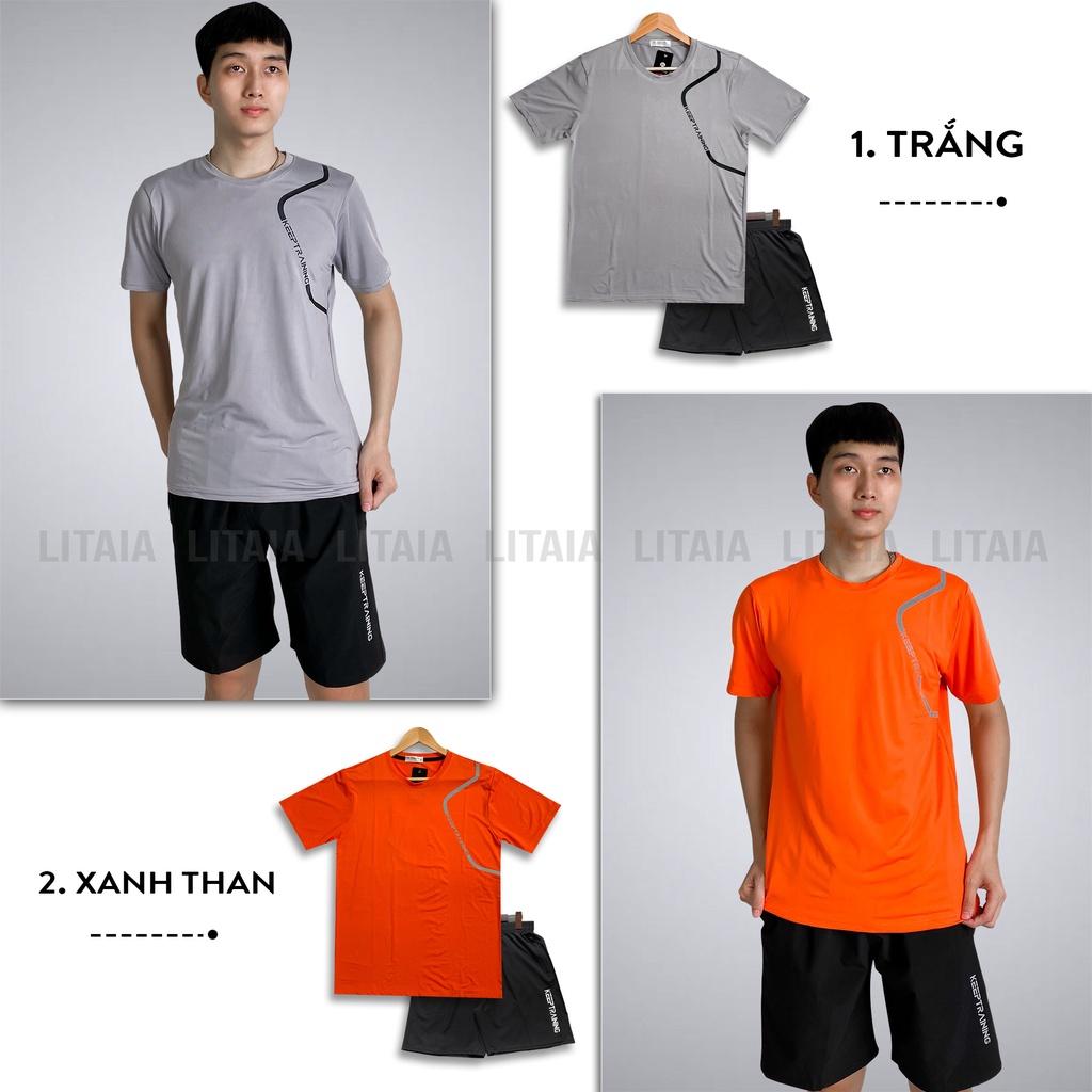 Mặc gì đẹp: Thoải mái với  Bộ quần áo thể thao nam bộ đồ nam thun lạnh 6 màu KEEP TRAINING