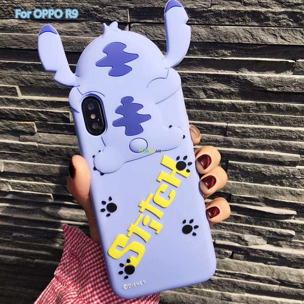 For OPPO R9 Cartoon Stich Silicon 3D Cute Back Cover Case