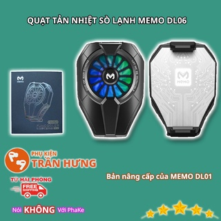 MEMO DL06   Quạt tản nhiệt sò lạnh MEMO DL06   LED RGB   Làm lạnh siêu nhanh cho điện thoại