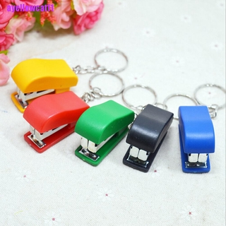 AYC Portable Keychain Mini Cute Stapler For Home Office School Paper Bookbinding Gif