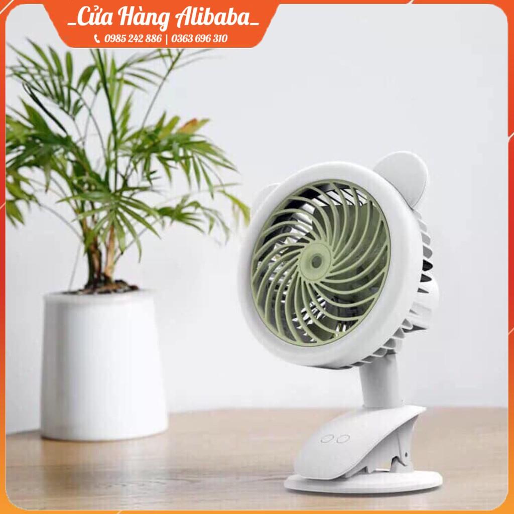 Quạt Phun Sương Mini Tích Điện Để Bàn Đa Năng, Có Kẹp Bàn, 3 Cấp Độ Gió F550