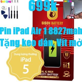 Pin iPad Air 1 2013, Pin iPad A1484 BISON 8827mAh bảo hành 12 tháng thumbnail