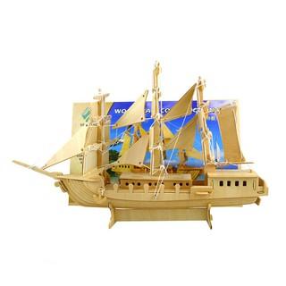 ღGB Bộ xếp hình tàu chiến thuật 3D bằng gỗ