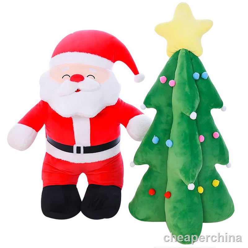 ▨☌Đồ chơi sang trọng cây thông Noel búp bê Santa Claus ragdoll Trẻ em Quà tặng Giáng sinh cho bé gái