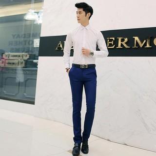 Yjfashion#& Men Pants Busines Straight Trousers