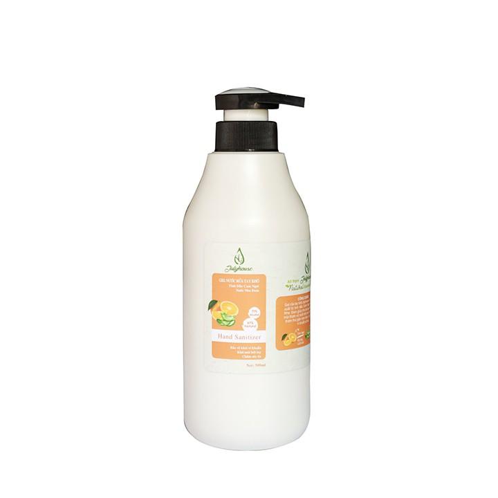Gel rửa tay khô tinh dầu Cam và Nha Đam chai 100ml JULYHOUSE