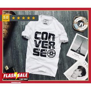 Áo Phông Nam C0NVERSE Ngắn Tay Cổ Tròn Thời Trang Đủ Size M L XL
