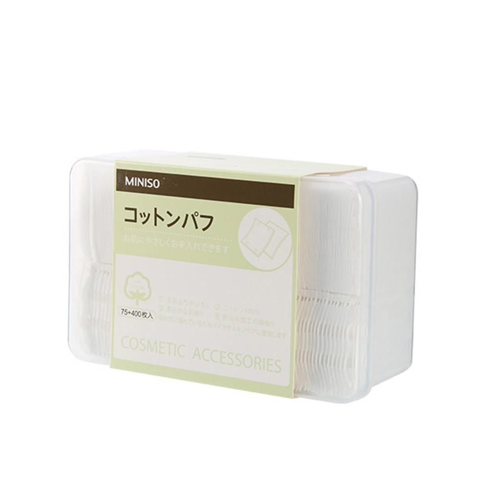Miniso Bông tẩy trang Sự kết hợp của miếng bông dày và mỏng (75+400 tờ)