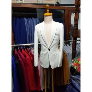 Yêu ThíchBộ vest nam màu trắng ôm body trẻ trung