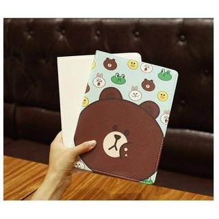 Bao da ipad Gấu Brown Vịt dễ thương cho Ipad Air/ Air2/ New 2017
