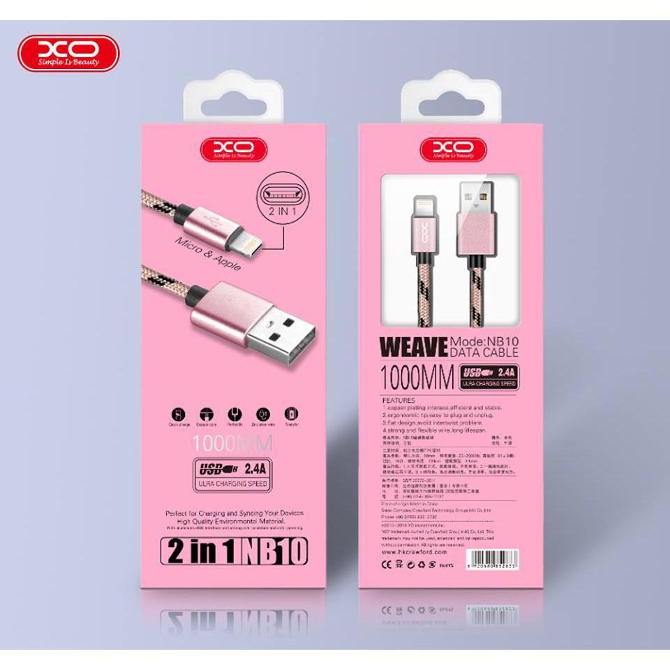 Cáp Sạc TYPE C Dài 2M - XO-NB10 - Samsung S8, Và A2017