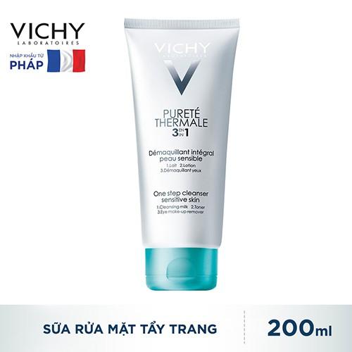[CHÍNH HÃNG] Sữa Rửa Mặt Tẩy Trang 3 In 1 Vichy Purete Thermale 200ml_3337871319144