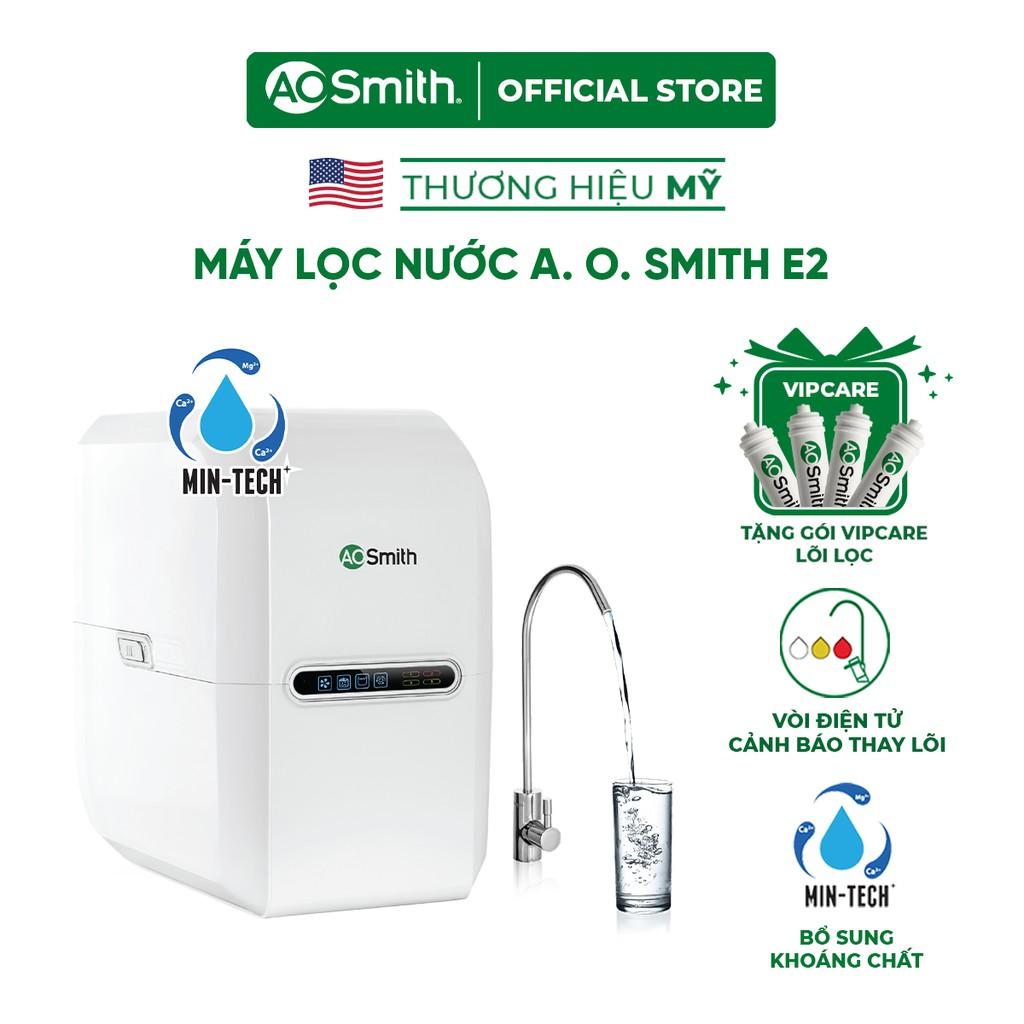 ] Máy lọc nước A. O. Smith E2 và gói bảo dưỡng máy - thay thế bộ 4 lõi lọc
