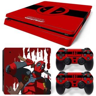 Miếng dán decal logo Deadpool cho máy chơi game Sony PS4 thumbnail