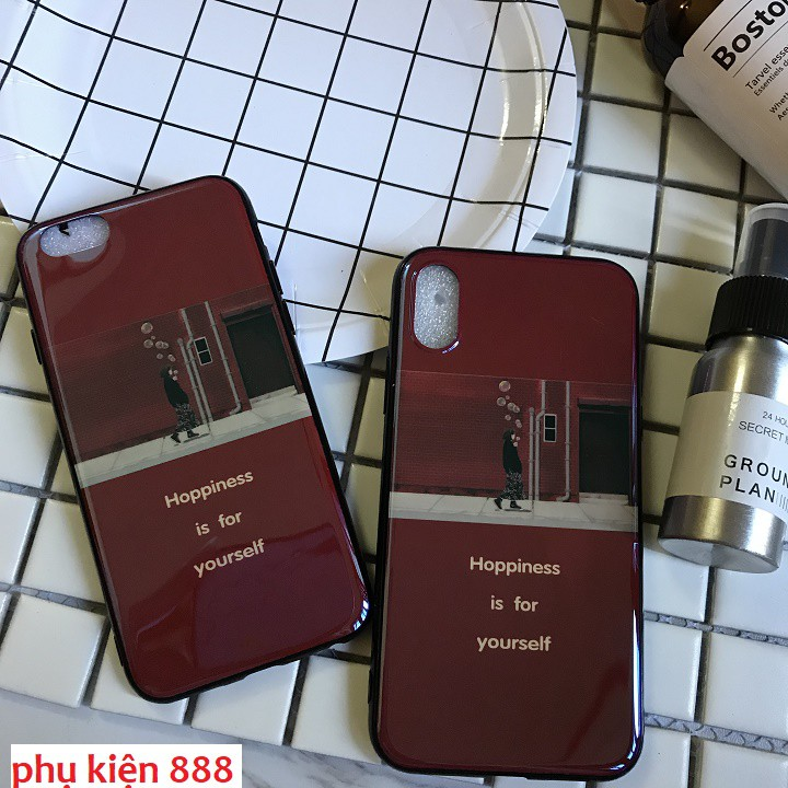 Ốp silicon phủ bóng Iphone 6, 6S, 7, 7P, 8P, X Hoppiness - OL2347