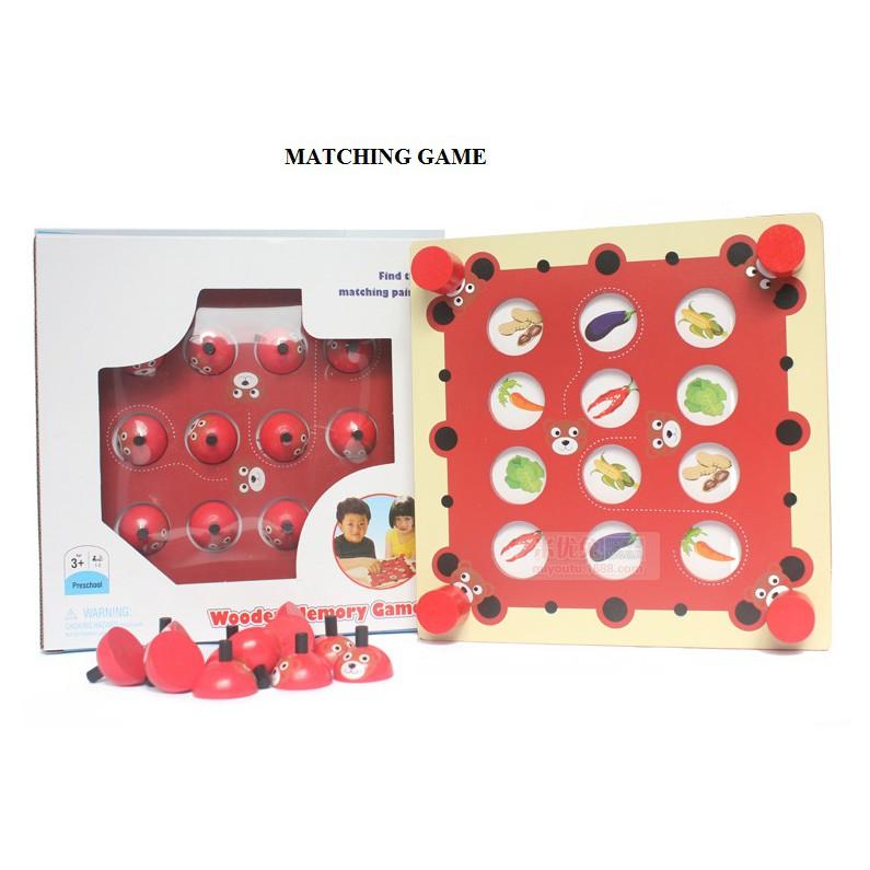 Trò chơi tìm hình giống nhau hình gấu đỏ- matching game