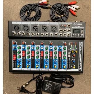 Bàn trộn âm thanh mixer yamaha F7-MB USB BLUETOOTH VÀ MÀN HÌNH LED KÈM PHỤ KIỆN BH 6 tháng