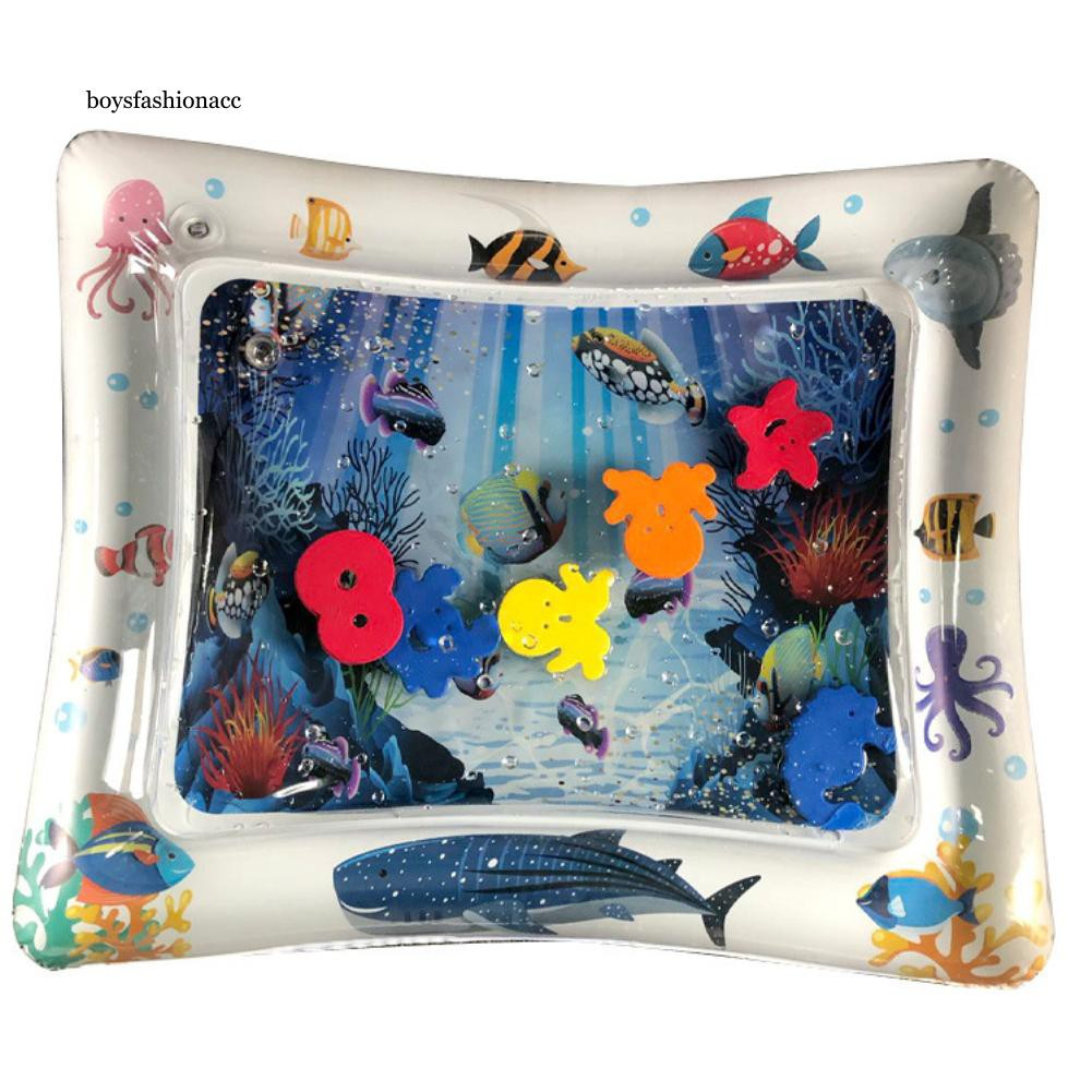BOYS Cute Shark/Octopus BPA Free Water Play Mater Infant Baby Inflatable Cushion Pad